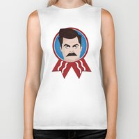 ron swanson Biker Tanks featuring Ron Swanson by creative.court