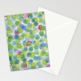 Dotted Summer Pattern Stationery Cards