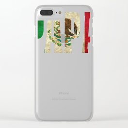 Mexican Design For Mexican Flag Design for Papa Mexican Pride Vintage Clear iPhone Case