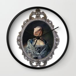 Framed Dame Deinonychus Wall Clock