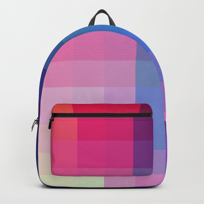 Abstract Geometric Colorful Pixel Art - Tupilaq Rucksack