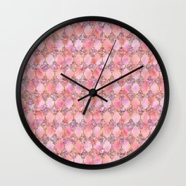 Luxury Gold and Pink Glitter effect oriental pattern on #Society6 Wall Clock