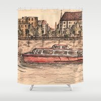 budapest Shower Curtains featuring Budapest Art by Daria Kotyk