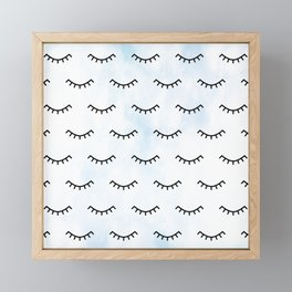 Sleeping Eyes and Eyelashes Framed Mini Art Print