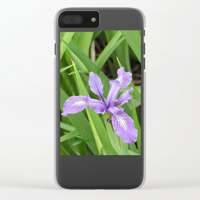 Pale Iris Clear iPhone Case