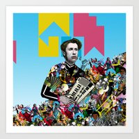 rave Art Prints featuring RAVE by DIVIDUS