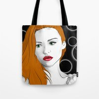 lydia martin Tote Bags featuring Lydia Martin by reliand