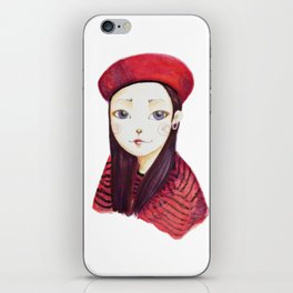girl in red iPhone Skin