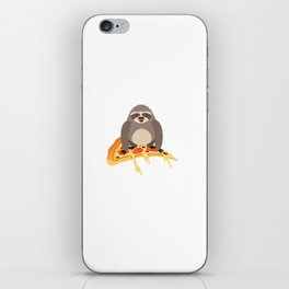 Cute and Funny Pizza Riding Sloth iPhone Skin