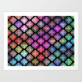 Rings Of Color Pattern Art Print