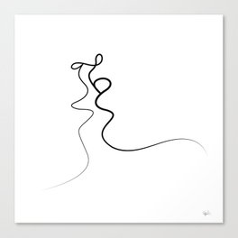 Kiss 2015 on white Canvas Print
