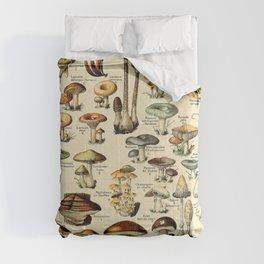 Adolphe Millot- Vintage Mushrooms Illustration Comforters