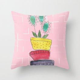 Cactus Plant Throw Pillow