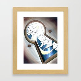 Through the Keyhole Framed Art Print