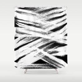 White brush Shower Curtain
