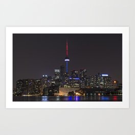 Toronto at Night 2 Art Print