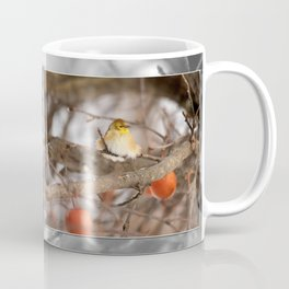 American Goldfinch in Winter Coffee Mug