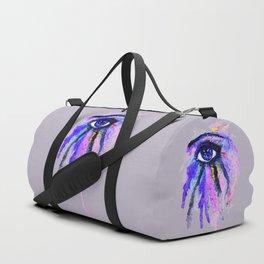 Blue eye splashing Duffle Bag