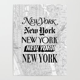 New York City black and white New York poster I love heart NYC Design black-white home wall decor Poster