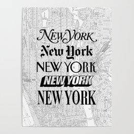 New York City black and white New York poster I love heart NYC Design black-white home wall decor Poster