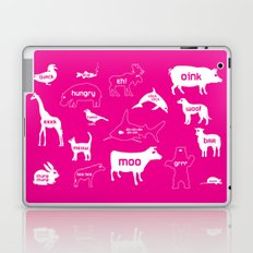 Animal Noises in Pink Laptop & iPad Skin