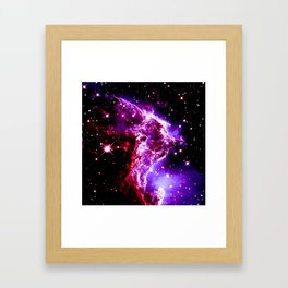 Pink Purple Monkey Head Nebula Galaxy Space Framed Art Print