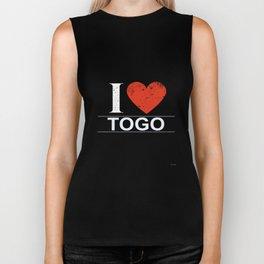 I Love Togo Biker Tank