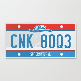 Supernatural Ohio license plate Canvas Print