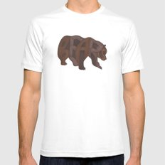 Bears Typography Mens Fitted Tee MEDIUM White