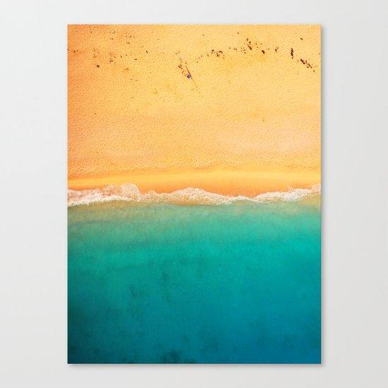Beach Line Canvas Print