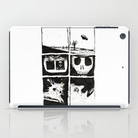death iPad Cases featuring Death by Lee Grace Illustration