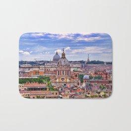 View Of Eternal City Rome Bath Mat