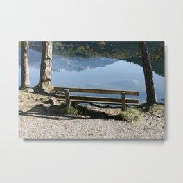 Bank on Hechtsee, Brandenberger Alps, Tirol Metal Print