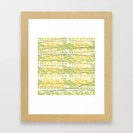 RAINBOW OVER YELLOW FLOWERS Framed Art Print