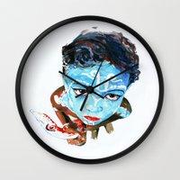hindu Wall Clocks featuring Hindu Boy by Cristian Blanxer