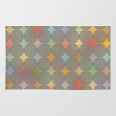 The Flower of Life (Sacred Geometry) pattern Rug