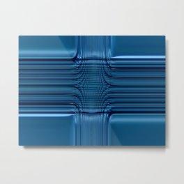 Blau Glas Metal Print