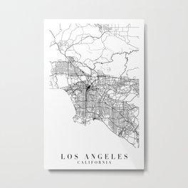 Los Angeles California Street Map Minimal Metal Print