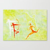 hunting Canvas Prints featuring Hunting by LoRo  Art & Pictures