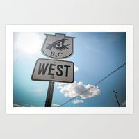 Westbound Art Print