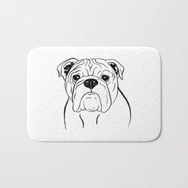English Bulldog (Black and White) Bath Mat