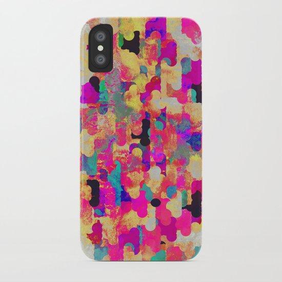 Neon Tambourine iPhone Case