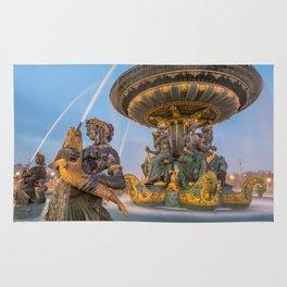Fountain place de la concorde Paris Rug