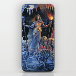 Two of Wands - Woman & Wolves iPhone Skin
