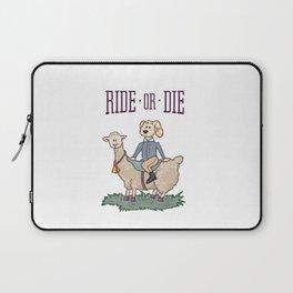 Ride or Die - Dog Laptop Sleeve
