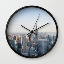 Towers | Urban Landscape Photography of New York City Skyline Buildings Wall Clock
