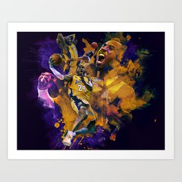 Lakers Legend Art Print