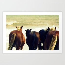 Horse Tails Art Print