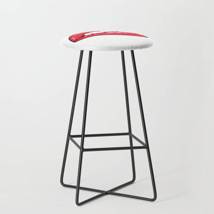 Red Lips Pop art Bar Stool