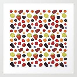 Culinary Berries Art Print